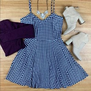 Cotton On Gingham Plaid Fit & Flare Tank Dress M
